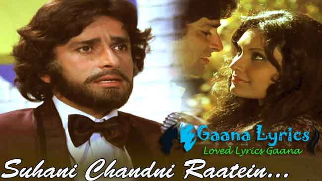 Suhani Chandni Raatein Lyrics